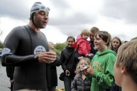 David Walliams – Thames Swim - Wedding photography by Rhian Ap Gruffydd